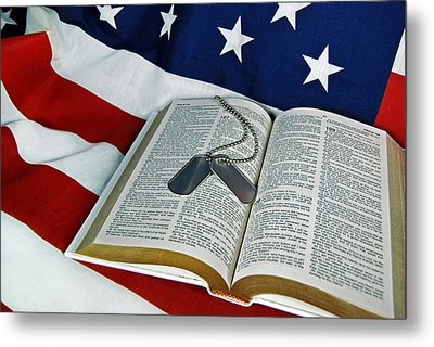 Military Tribute Metal Print by Maria Dryfhout
