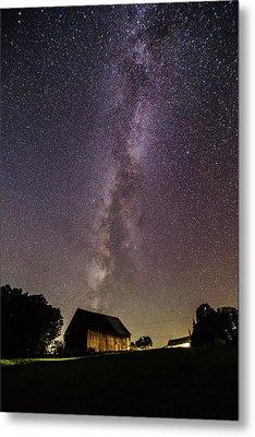 Milky Way And Barn Metal Print