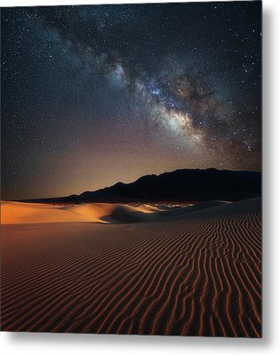 Metal Print featuring the photograph Milky Way Over Mesquite Dunes by Darren White