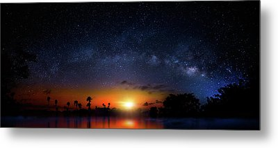 Metal Print featuring the photograph Milky Way Sunrise by Mark Andrew Thomas