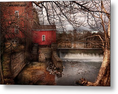 Mill - Clinton Nj - The Mill And Wheel Metal Print by Mike Savad