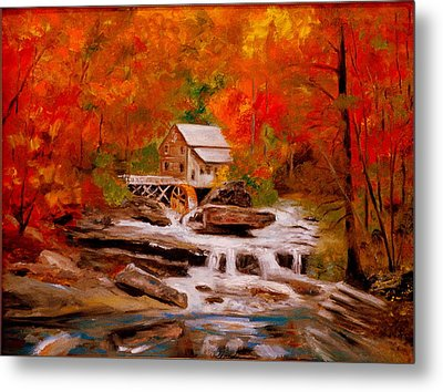 Mill Creek Metal Print by Phil Burton