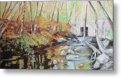 Mill Stream, October Metal Print by Grace Keown