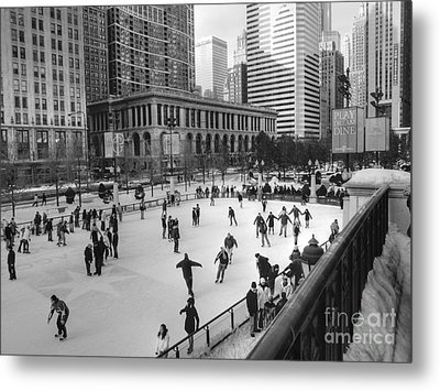 Millennium Skate Metal Print by David Bearden