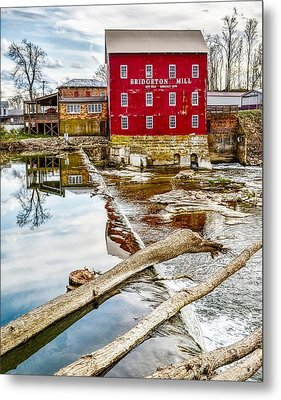 Milling Reflections Metal Print by Brent Tindall