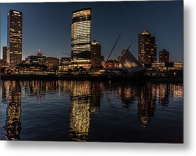 Milwaukee Reflections Metal Print