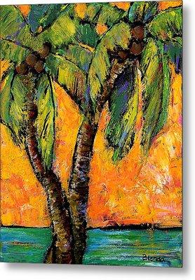 Mimosa Sky Palm Metal Print by Blenda Studio