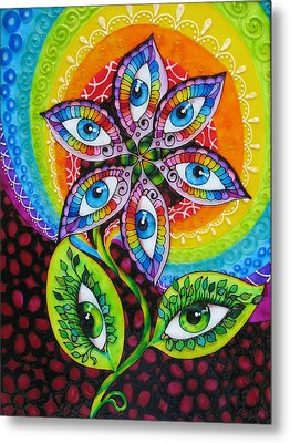 Mind Eyes Metal Print by Gabriela Stavar
