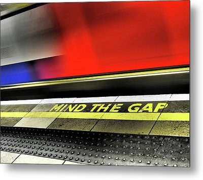 Mind The Gap Metal Print