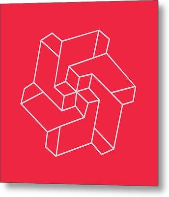 Minimal    Chakra Symbol Art Optical Illusion Star Metal Print by Philipp Rietz