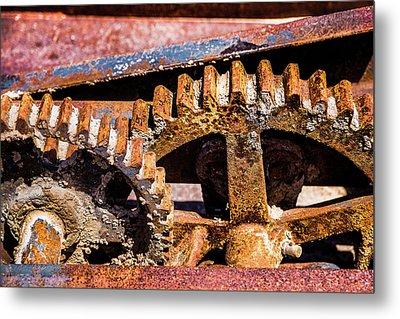 Mining Gears Metal Print by Onyonet  Photo Studios