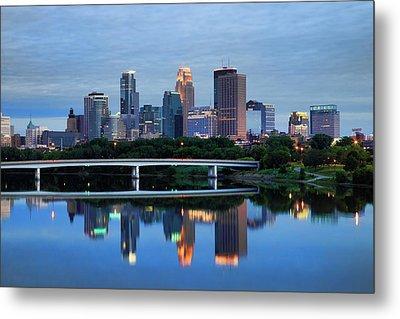 Minneapolis Reflections Metal Print by Rick Berk