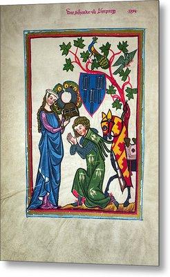 Minnesinger, 14th Century Metal Print by Granger