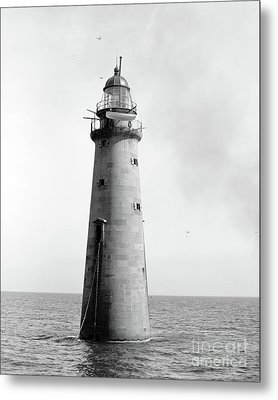 Minot's Ledge Lighthouse, Boston, Mass Vintage Metal Print by Vintage