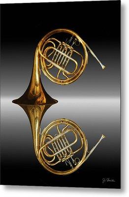 Metal Print featuring the photograph Mirrored Horn by Joe Bonita