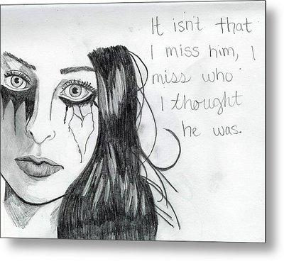 Miss Who He Was Metal Print by Rebecca Wood