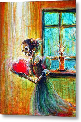 Metal Print featuring the painting Missing You by Heather Calderon