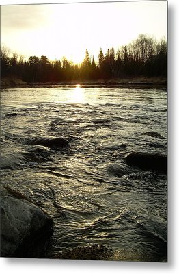 Metal Print featuring the photograph Mississippi River Dawn Reflection by Kent Lorentzen