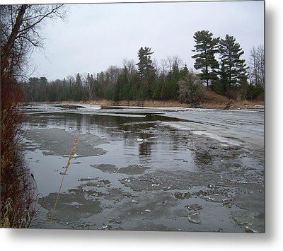 Metal Print featuring the photograph Mississippi River Ice Flow by Kent Lorentzen