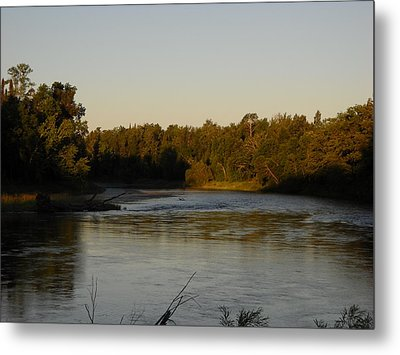 Mississippi River Morning Glow Metal Print