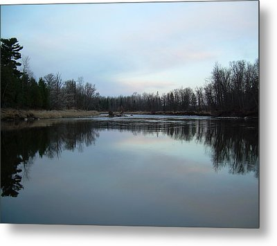 Metal Print featuring the photograph Mississippi River Morning Reflection by Kent Lorentzen