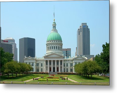 Metal Print featuring the photograph Missouri State Capitol Building by Mike McGlothlen
