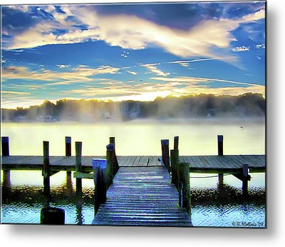 Metal Print featuring the photograph Misty Morning On Rock Creek by Brian Wallace