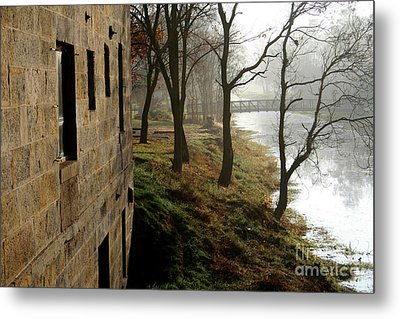 Misty Morning On The Illinois Michigan Canal  Metal Print