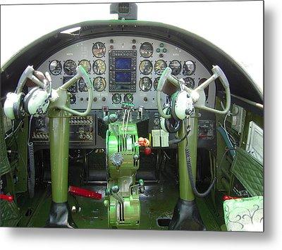 Mitchell B-25 Bomber Cockpit Metal Print