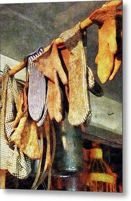 Mittens In General Store Metal Print by Susan Savad