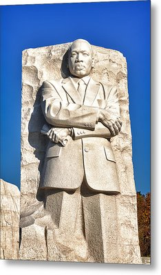 Mlk Memorial In Color Metal Print