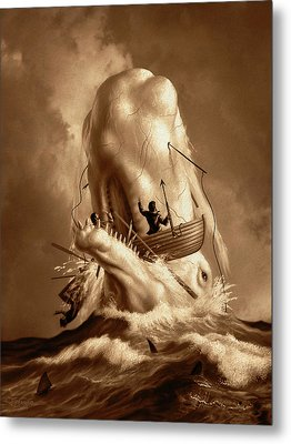 Moby Dick 2 Metal Print