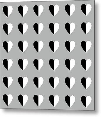 Modern Hearts- Art By Linda Woods Metal Print