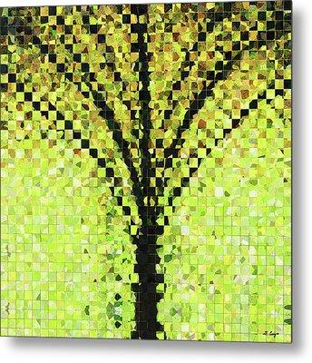Modern Landscape Art - Pieces 10 - Sharon Cummings Metal Print