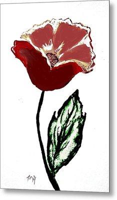 Modernized Flower Metal Print by Marsha Heiken