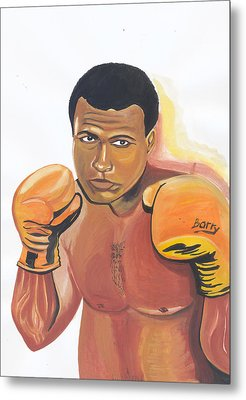 Metal Print featuring the painting Mohammed Ali by Emmanuel Baliyanga