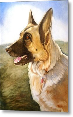 Metal Print featuring the painting Mollie by Marilyn Jacobson