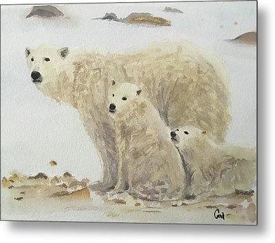 Mommy Bear Metal Print