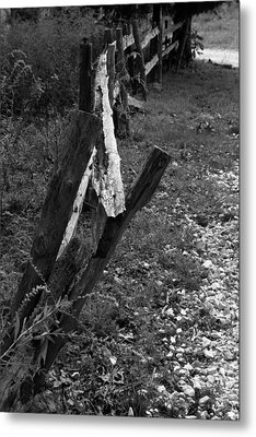 Metal Print featuring the photograph Momsvisitfence2 by Curtis J Neeley Jr
