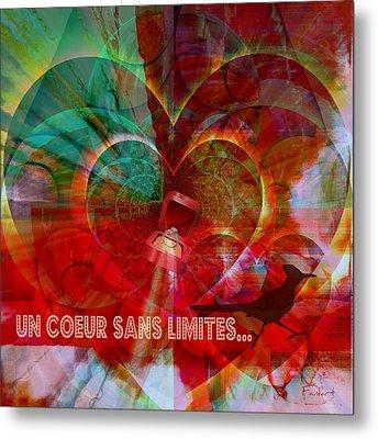 Mon Coeur - My Heart Metal Print by Fania Simon