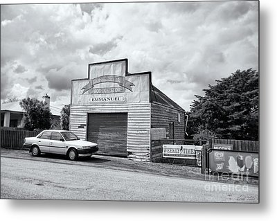 Metal Print featuring the photograph Monegeetta Produce Store by Linda Lees