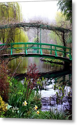 Monet's Magical Bridge Metal Print