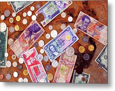 Money From Around The World Metal Print by Thomas R Fletcher