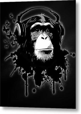 Monkey Business - Black Metal Print