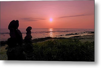 Metal Print featuring the photograph Monoliths At Sunset by Lori Seaman