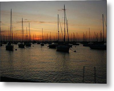 Monroe Harbor Sunrise Metal Print by Gregory Jeffries