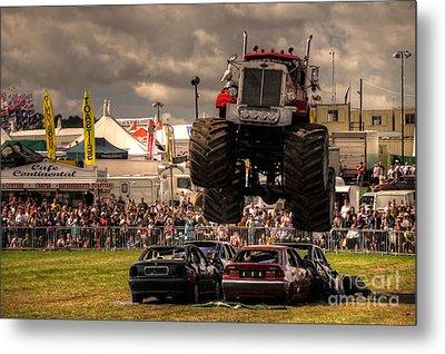 Monster Truck Destruction  Metal Print by Rob Hawkins