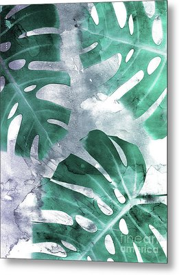 Monstera Theme 1 Metal Print by Emanuela Carratoni