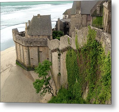 Mont St Michel Outer Wall Metal Print