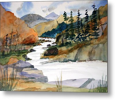 Montana Canyon Metal Print by Larry Hamilton